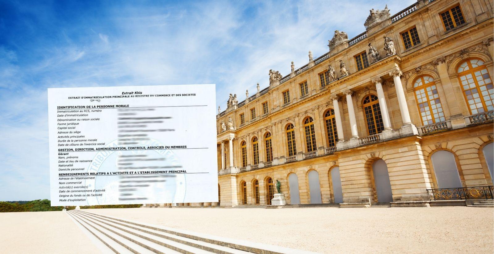 Extrait Kbis à Versailles