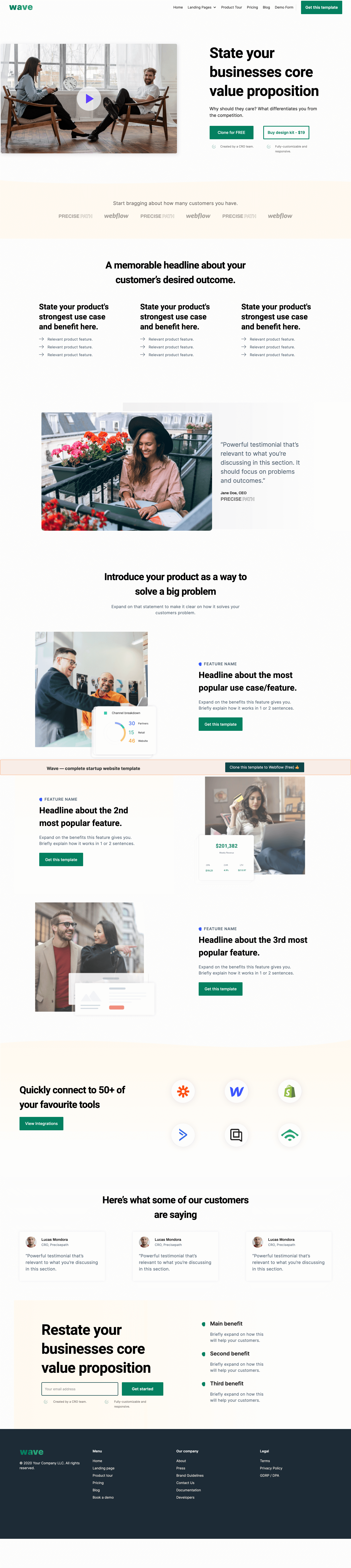 Wave Startup template (Clonable)