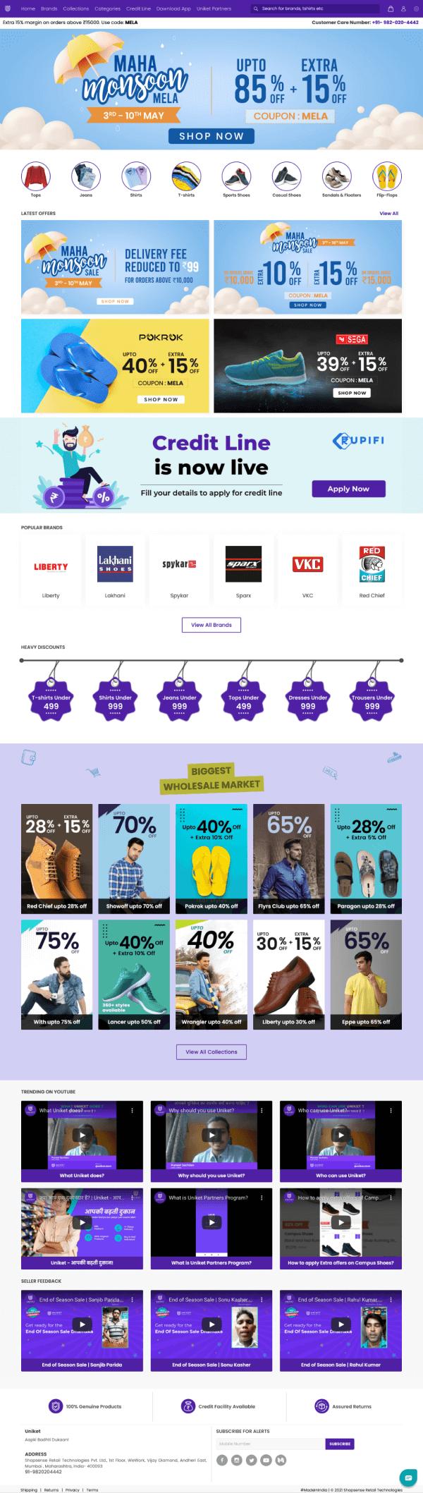 Uniket Store (Wholesaler Hub)