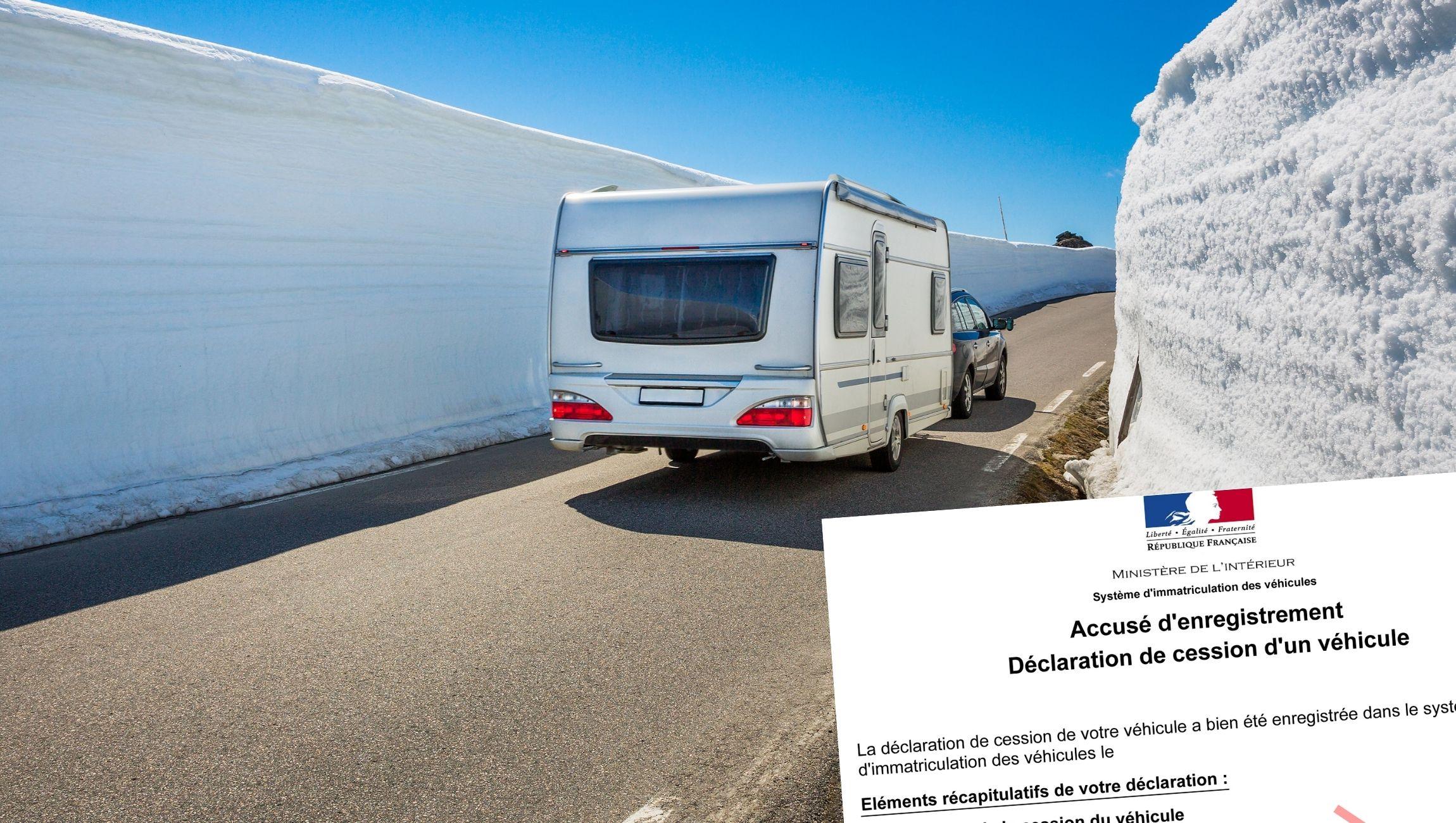 Déclaration de cession pour caravane
