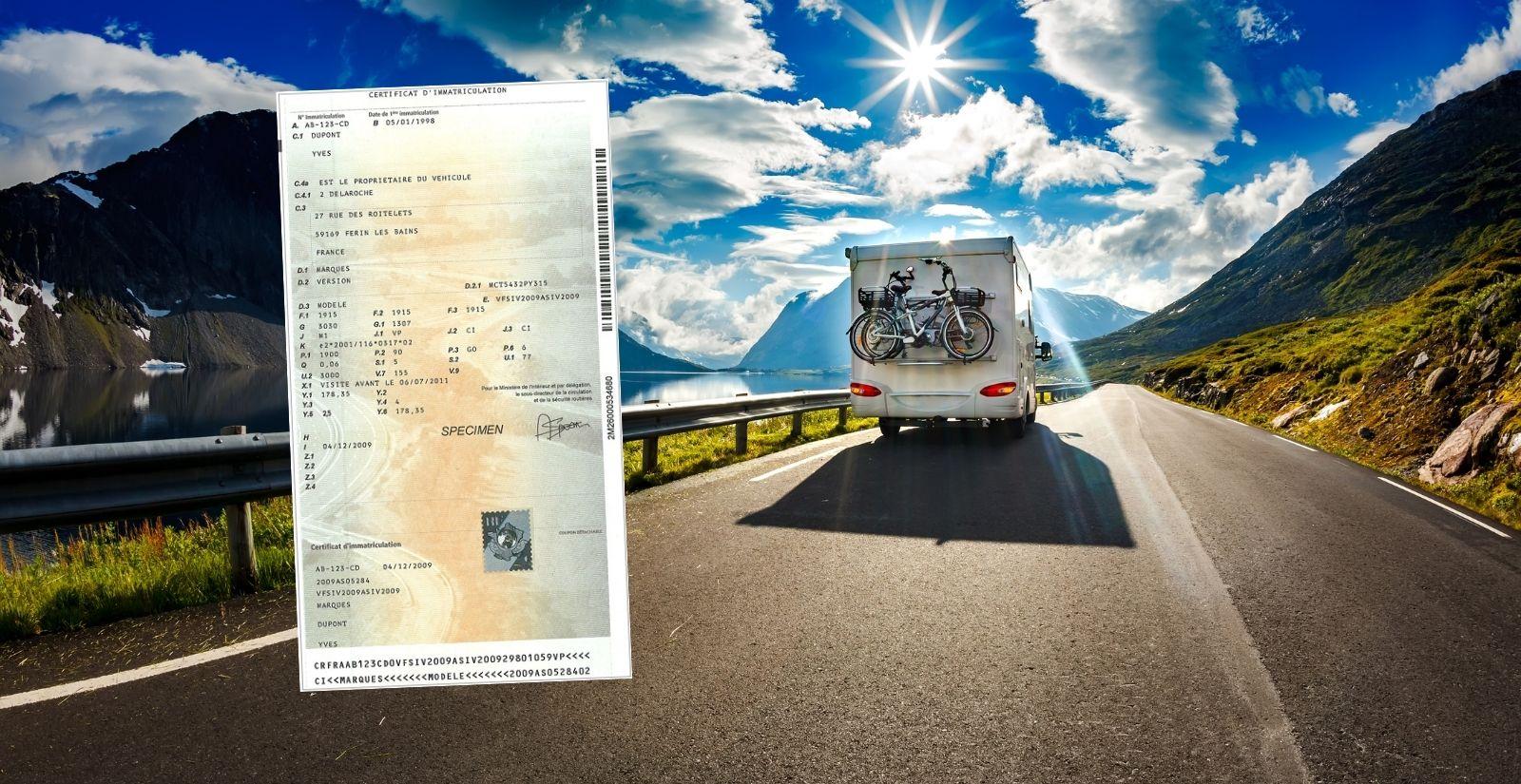 Déclaration de perte carte grise caravane
