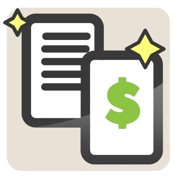 Documents and billing icon