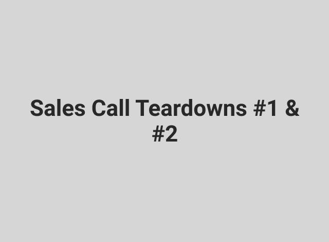 Sales Call Teardown Bundle