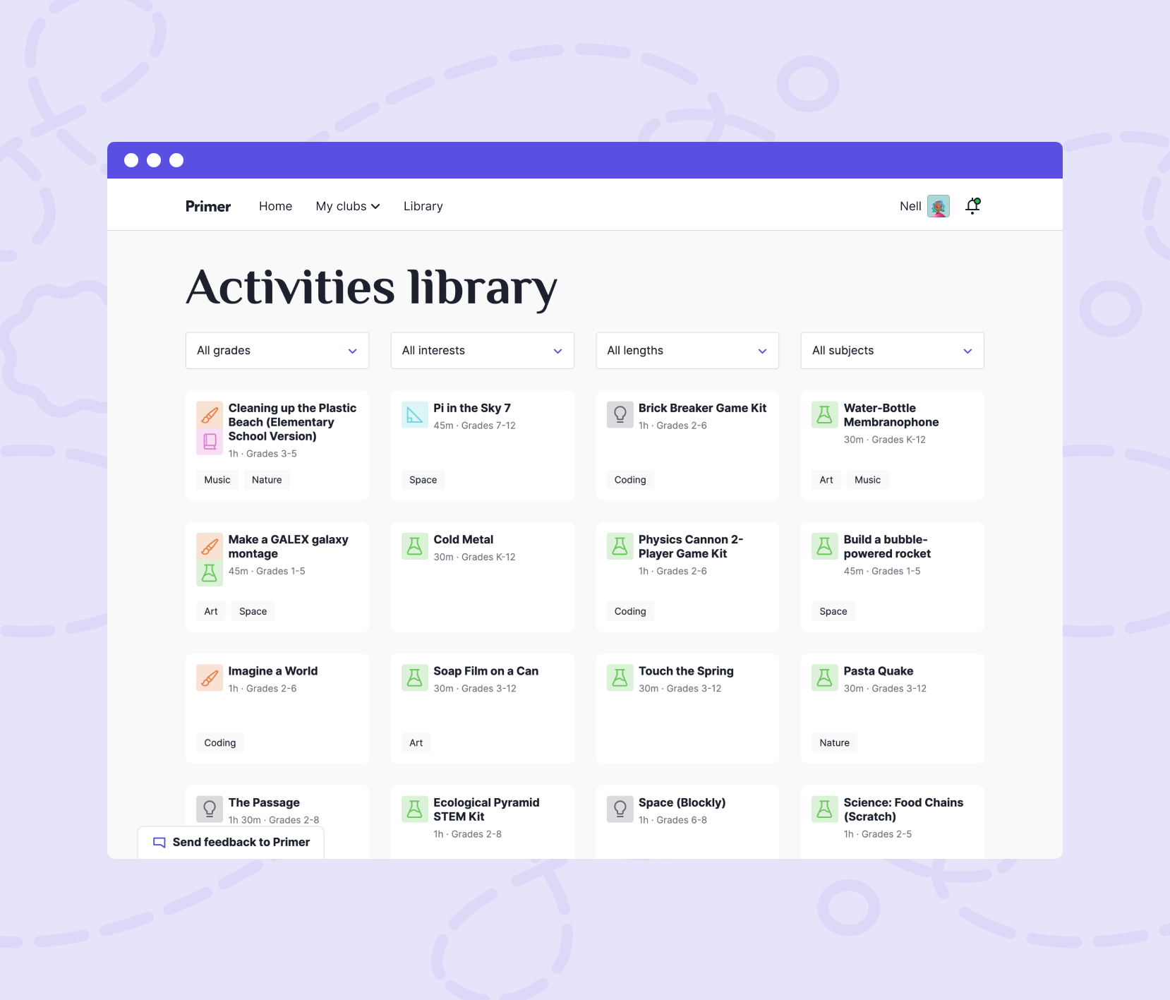 Introducing the Activities Library