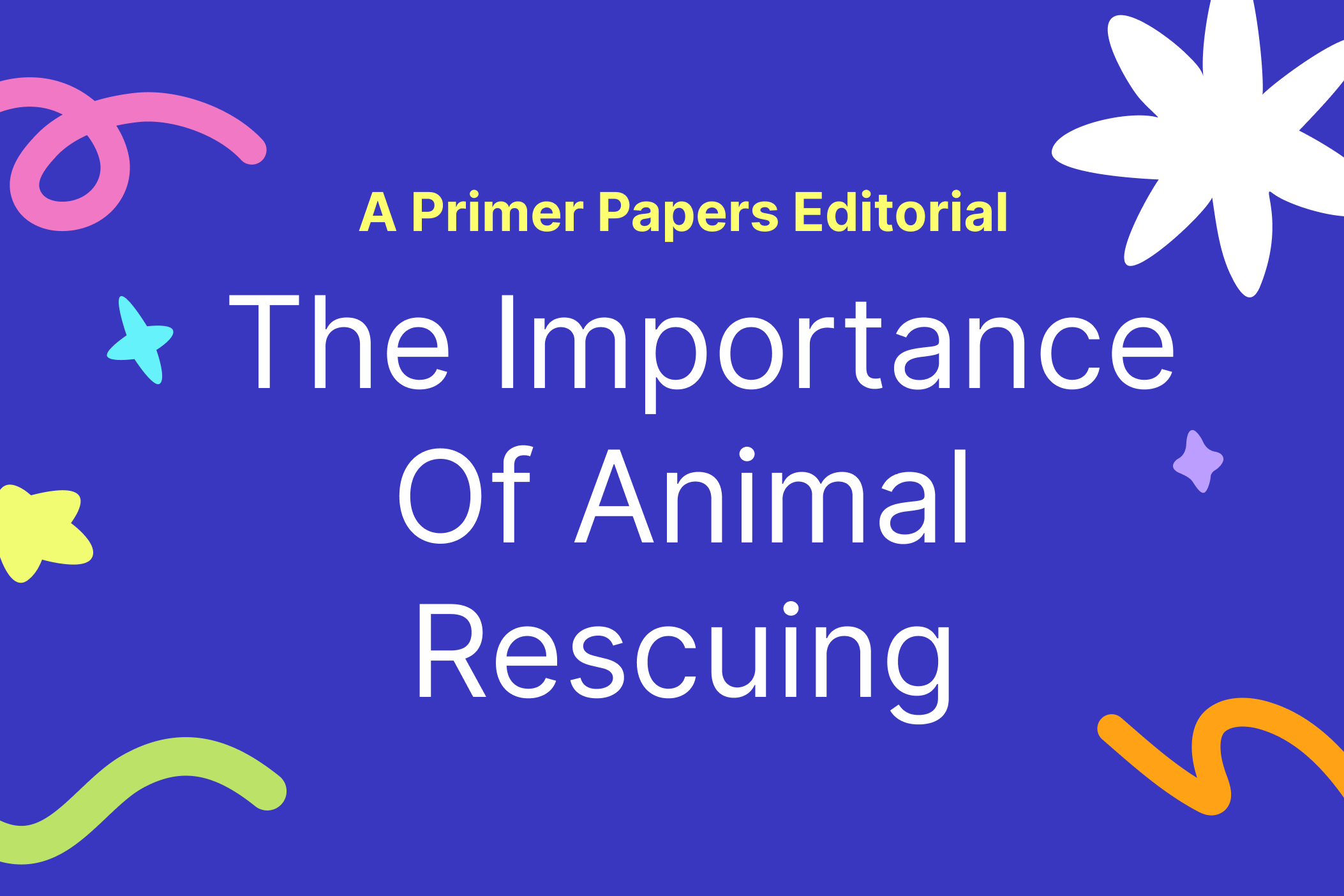 The Importance of Animal Rescuing by Eva