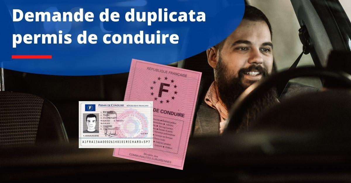 duplicata permis de conduire en ligne