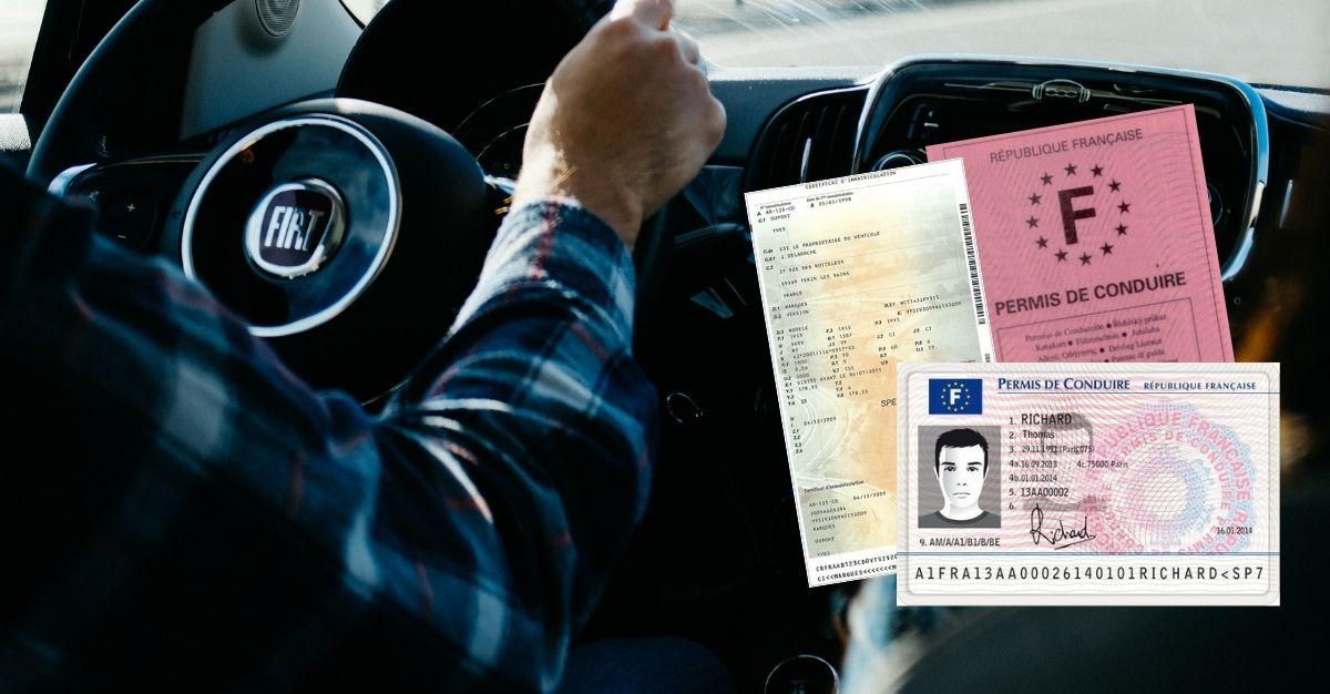 Perte permis de conduire et carte grise