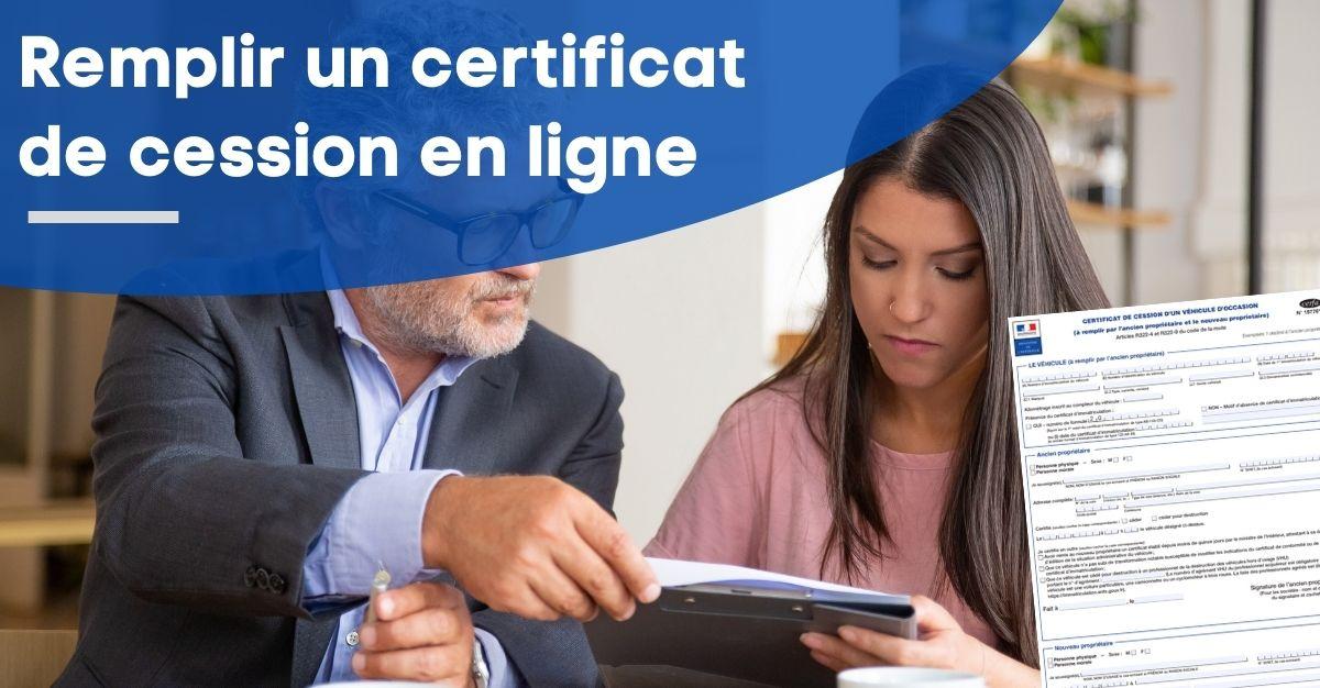 remplir certificat de cession en ligne