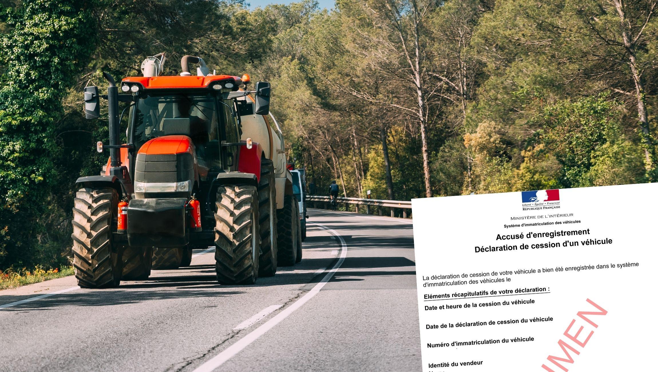 Changer de titulaire de carte grise pour un tracteur