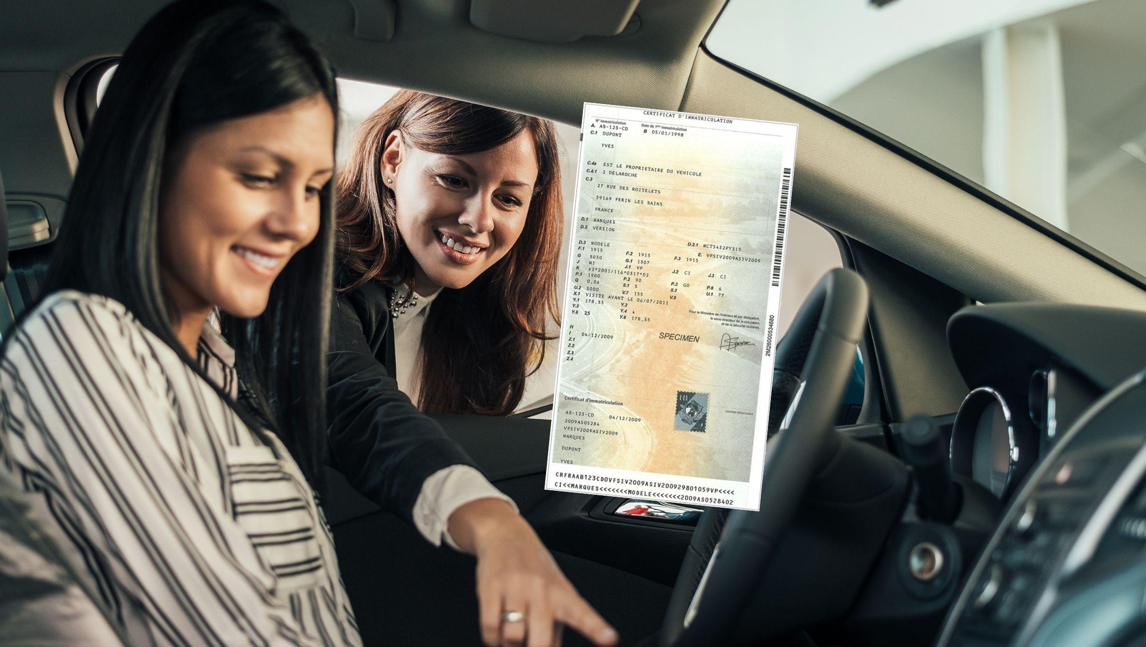 Changement de propriétaire carte grise en ligne suite à l'achat d'un véhicule d'occasion