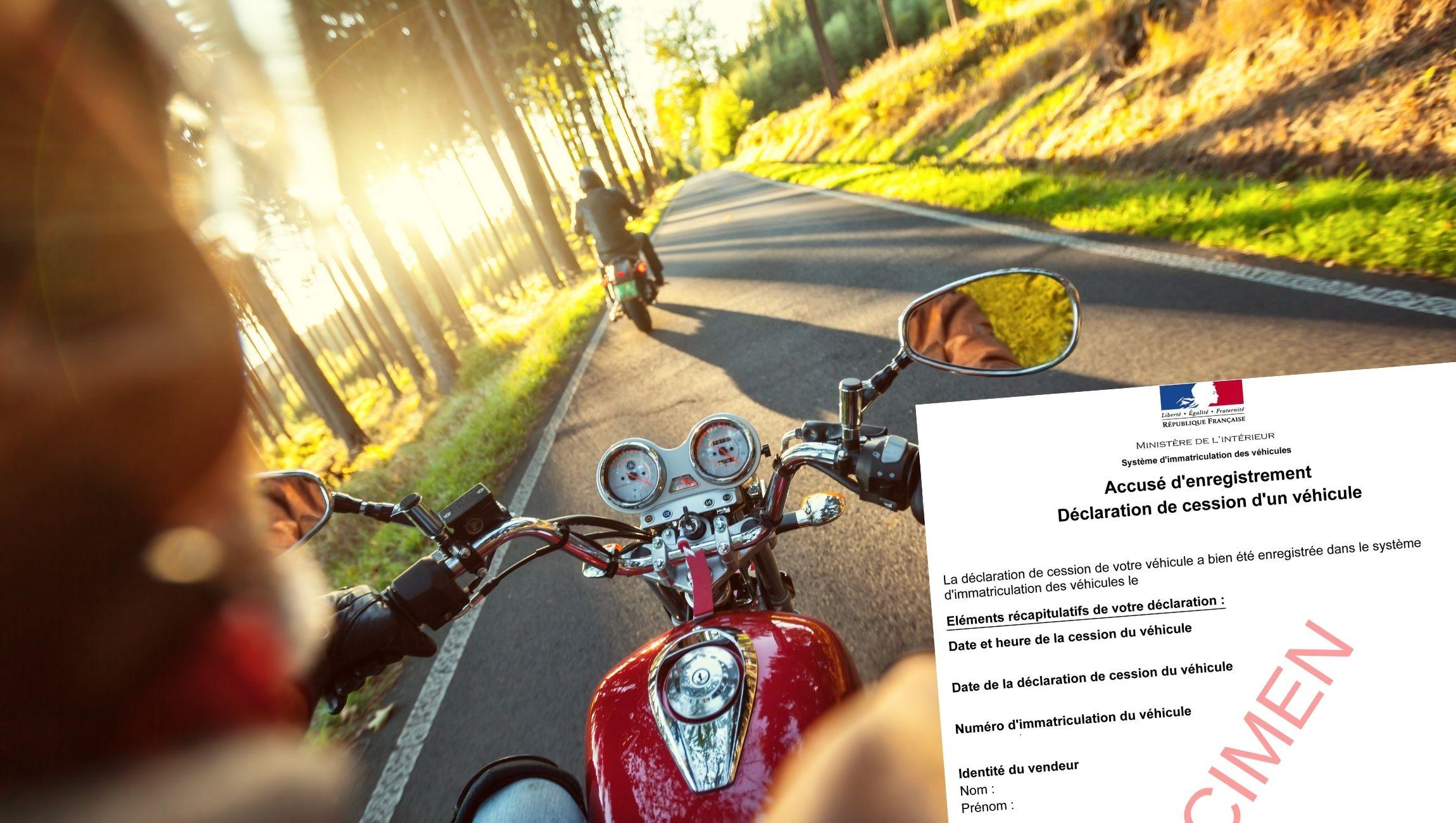 Déclaration de cession d'une moto ou motocross
