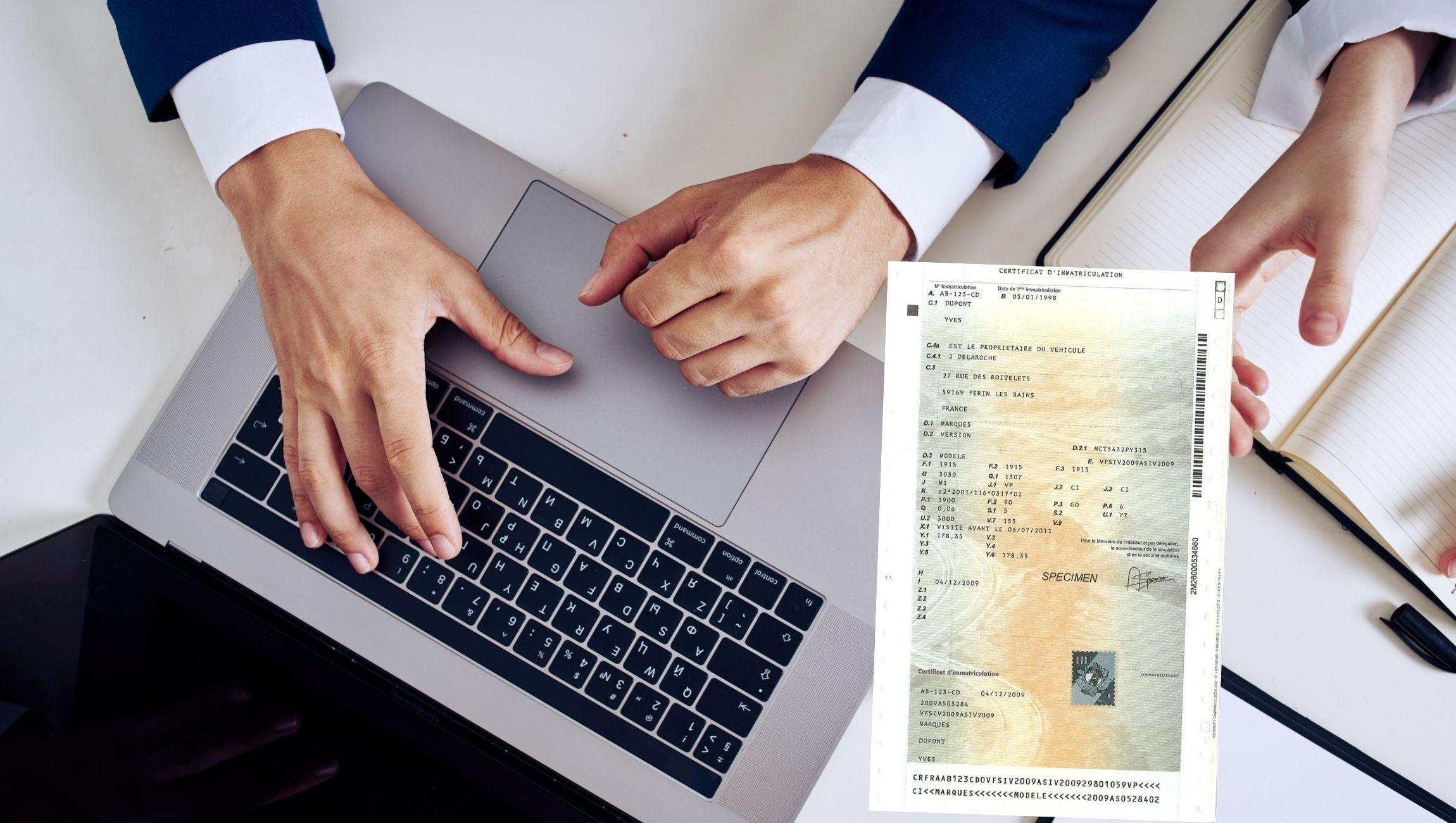 Changement titulaire / nom carte grise entreprise / véhicule de société / professionnel