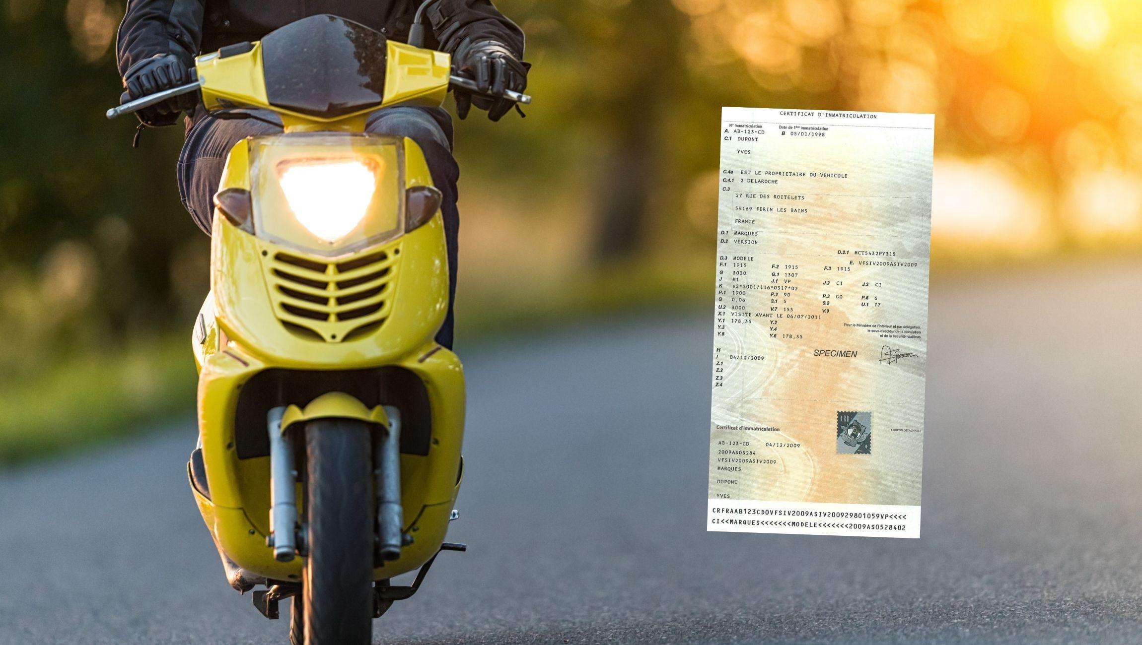 Changement de nom / titulaire pour une carte grise de scooter