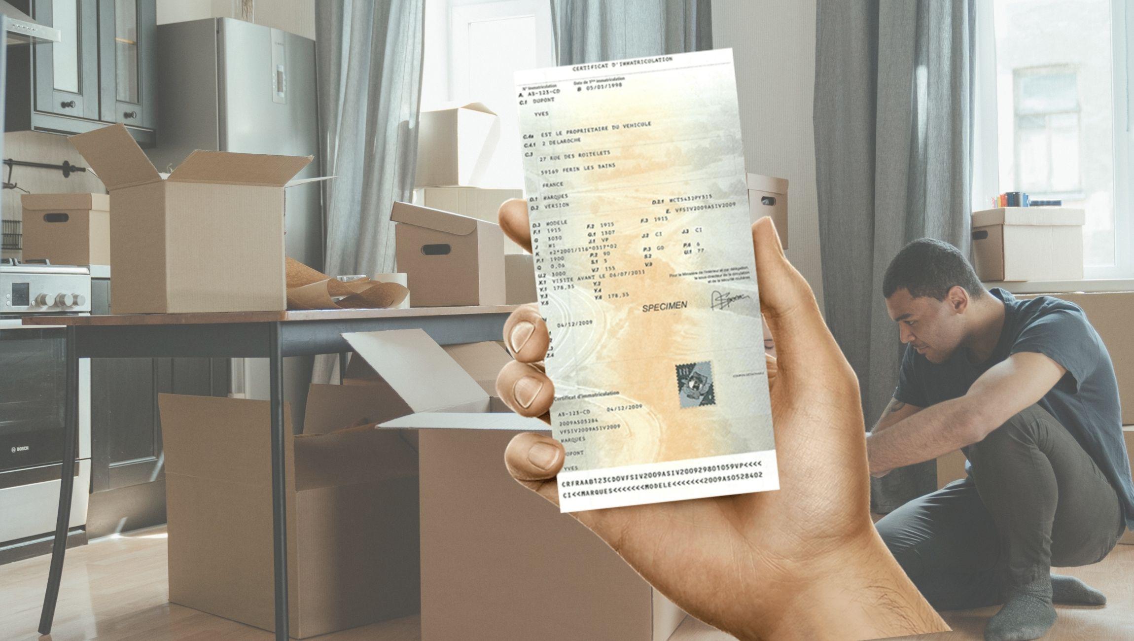 Changement d'adresse de carte grise suite à un déménagement
