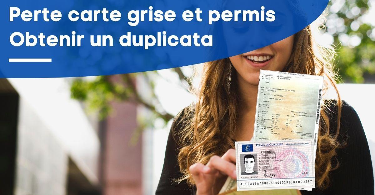duplicata perte carte grise et permis de conduire