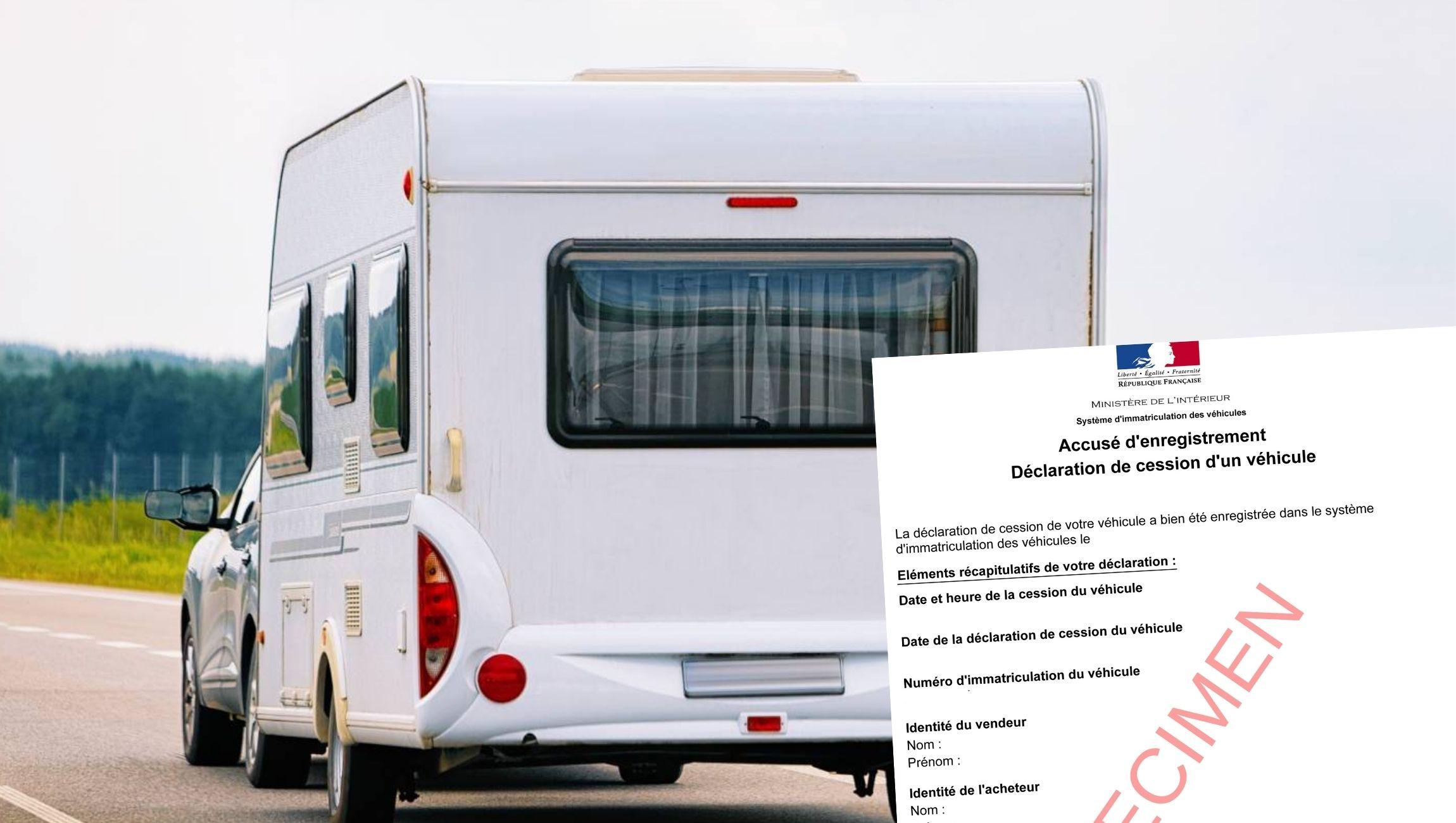 Déclaration de cession caravane