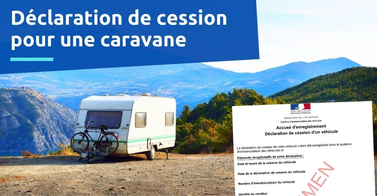 déclaration de vente caravane