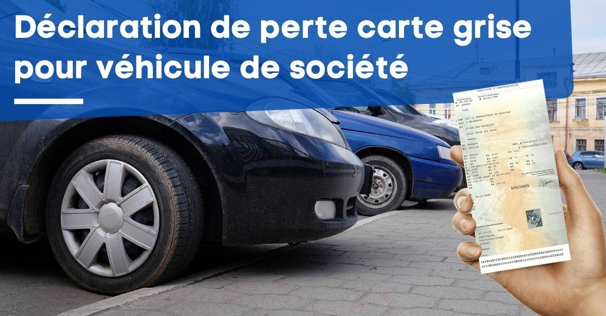 Perte Carte Grise D Un Vehicule De Societe Entreprise