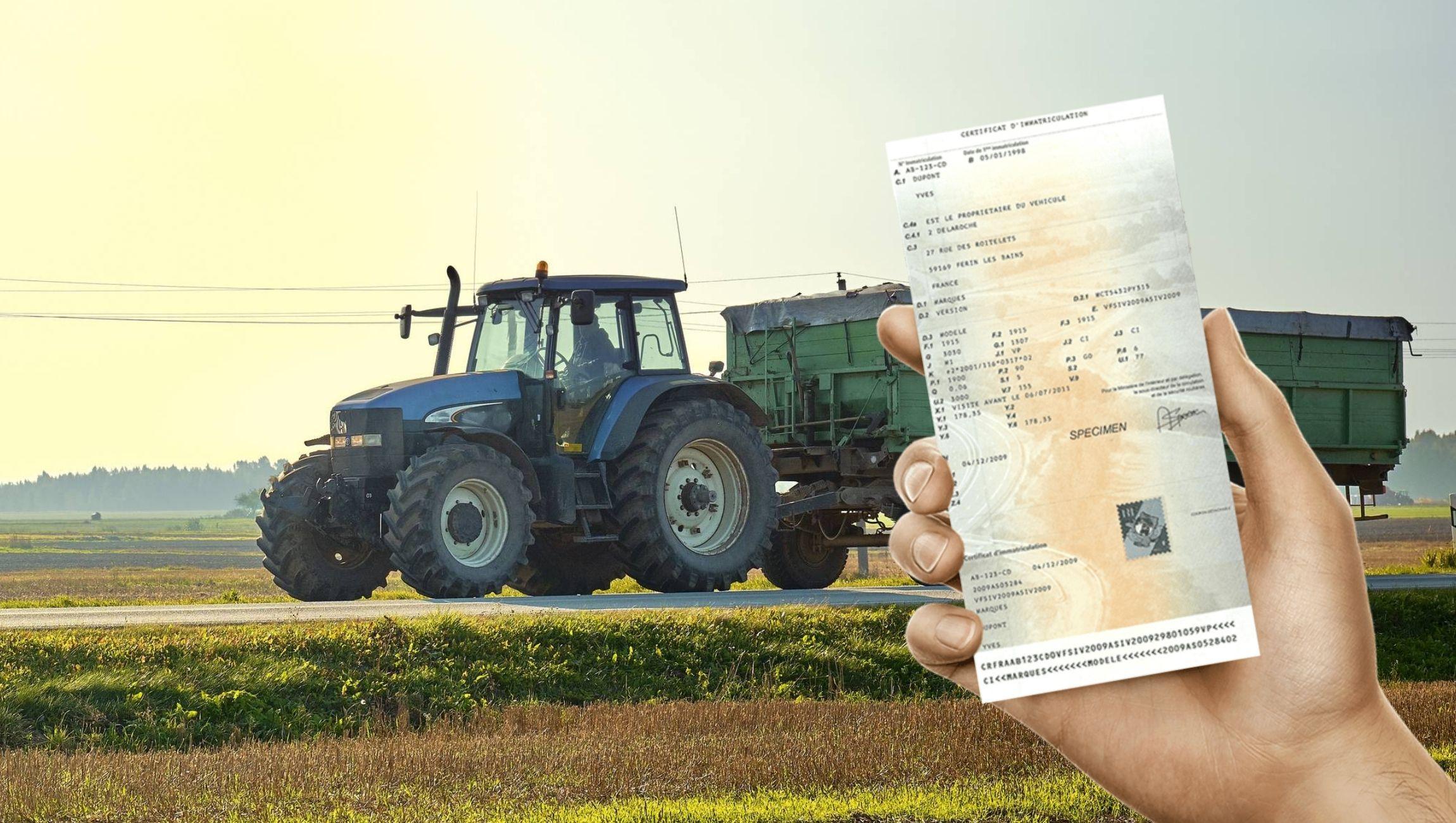 Perte carte grise tracteur : demande duplicata en ligne