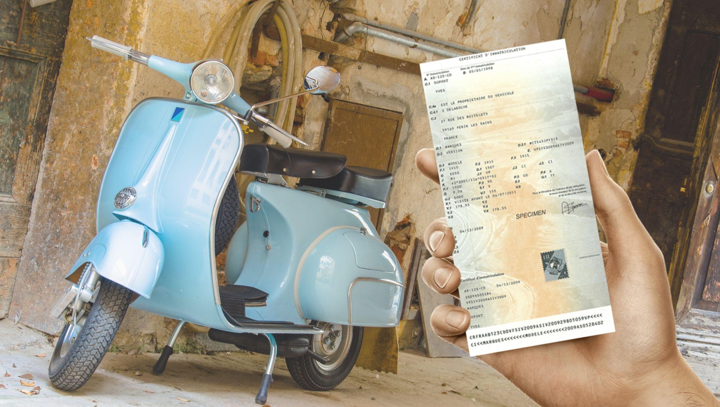 Perte de carte grise d'un scooter 50 cc ou d'un cyclomoteur