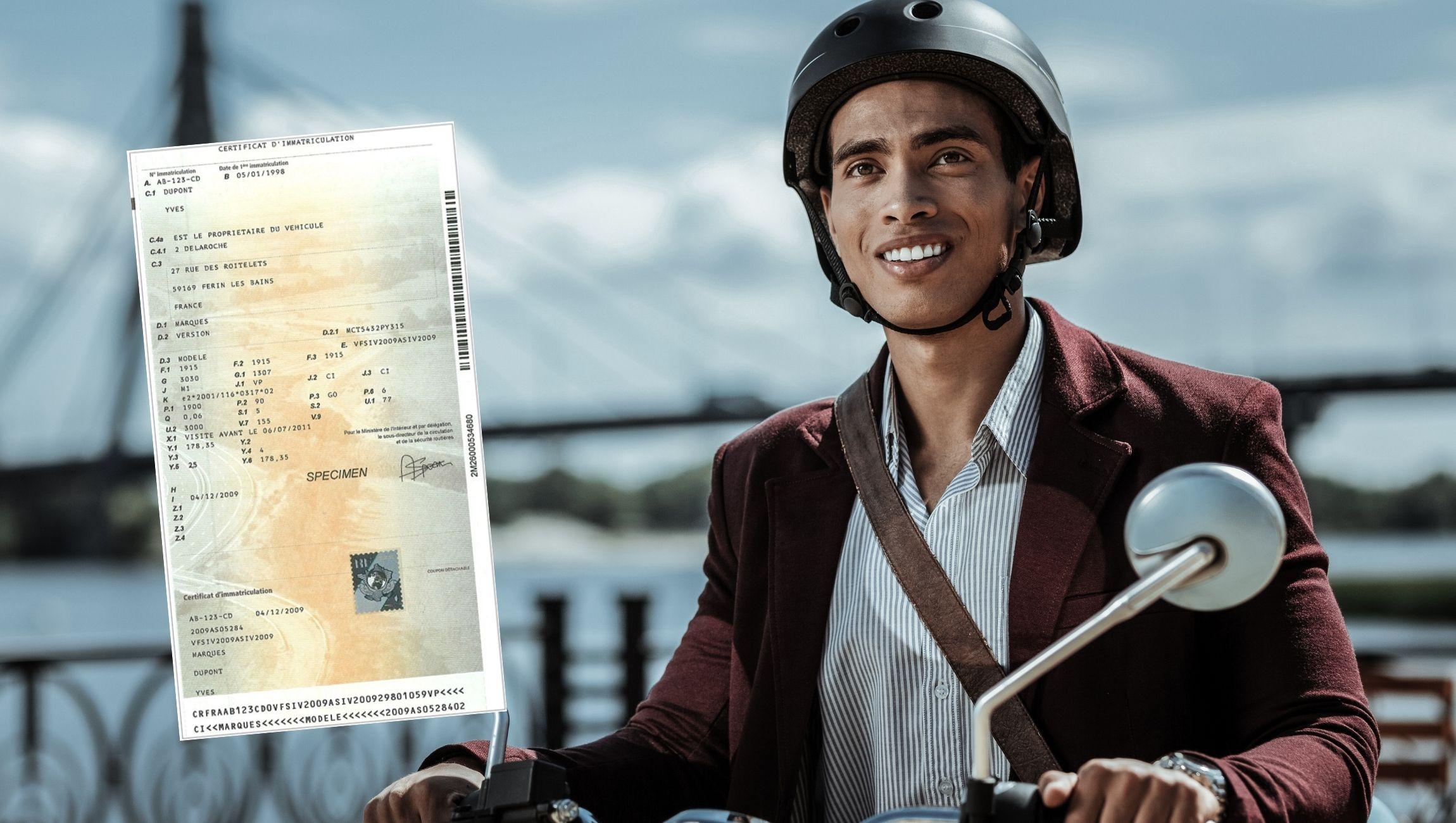 Changement de nom de titulaire pour la carte grise d'une moto