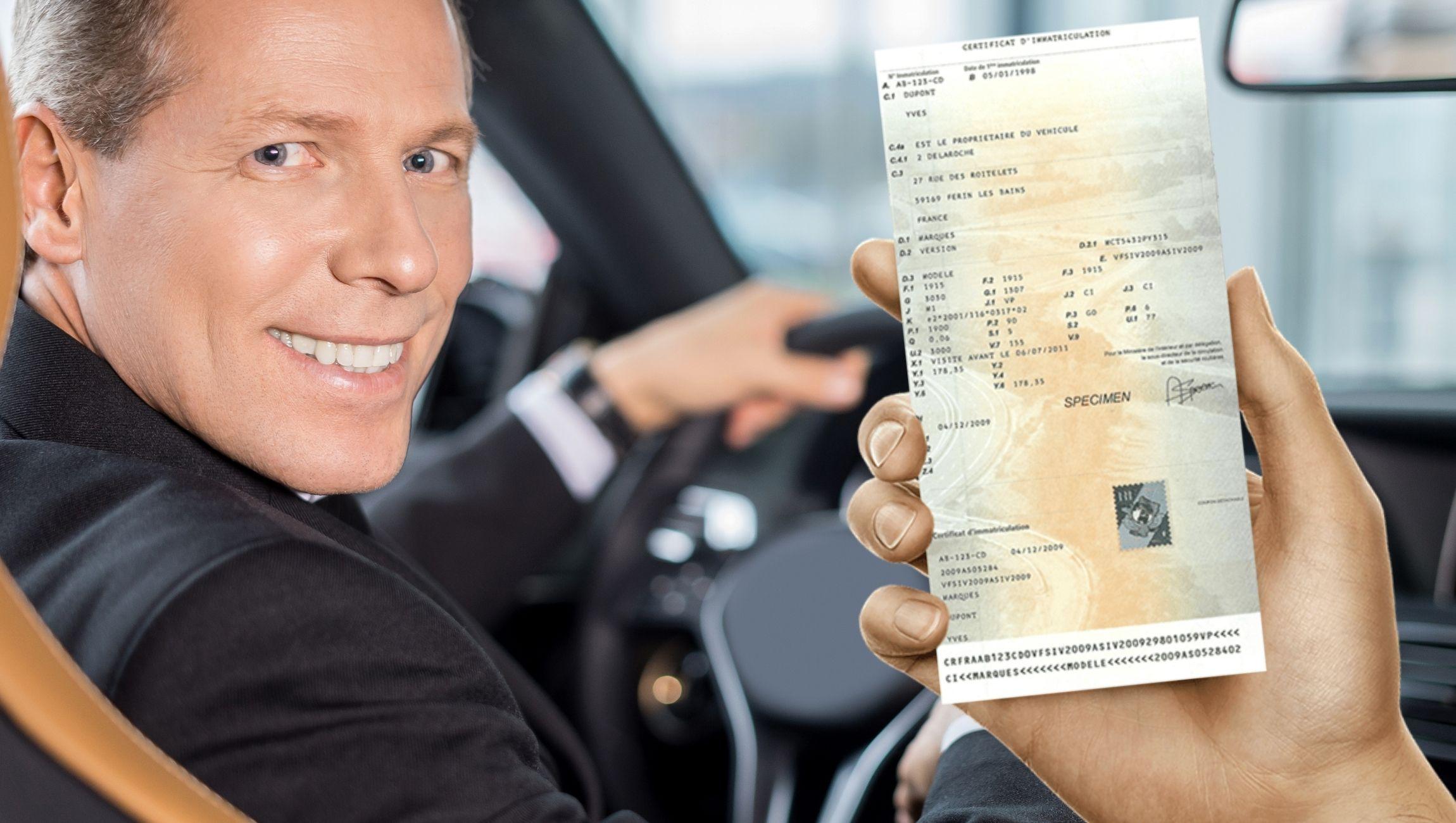 Changement titulaire / nom carte grise voiture d'occasion