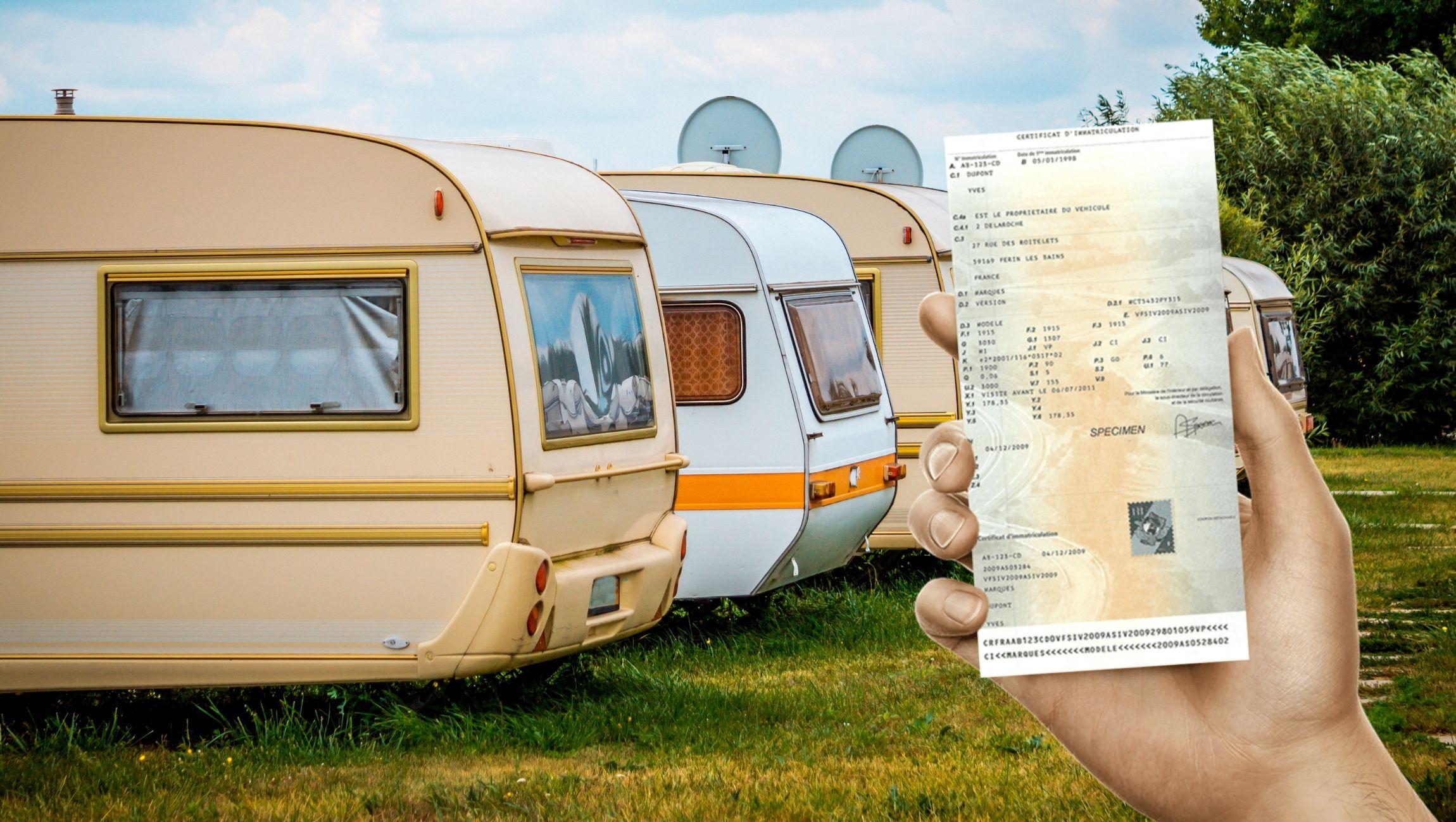 Changement de nom du titulaire d'une carte grise pour une caravane