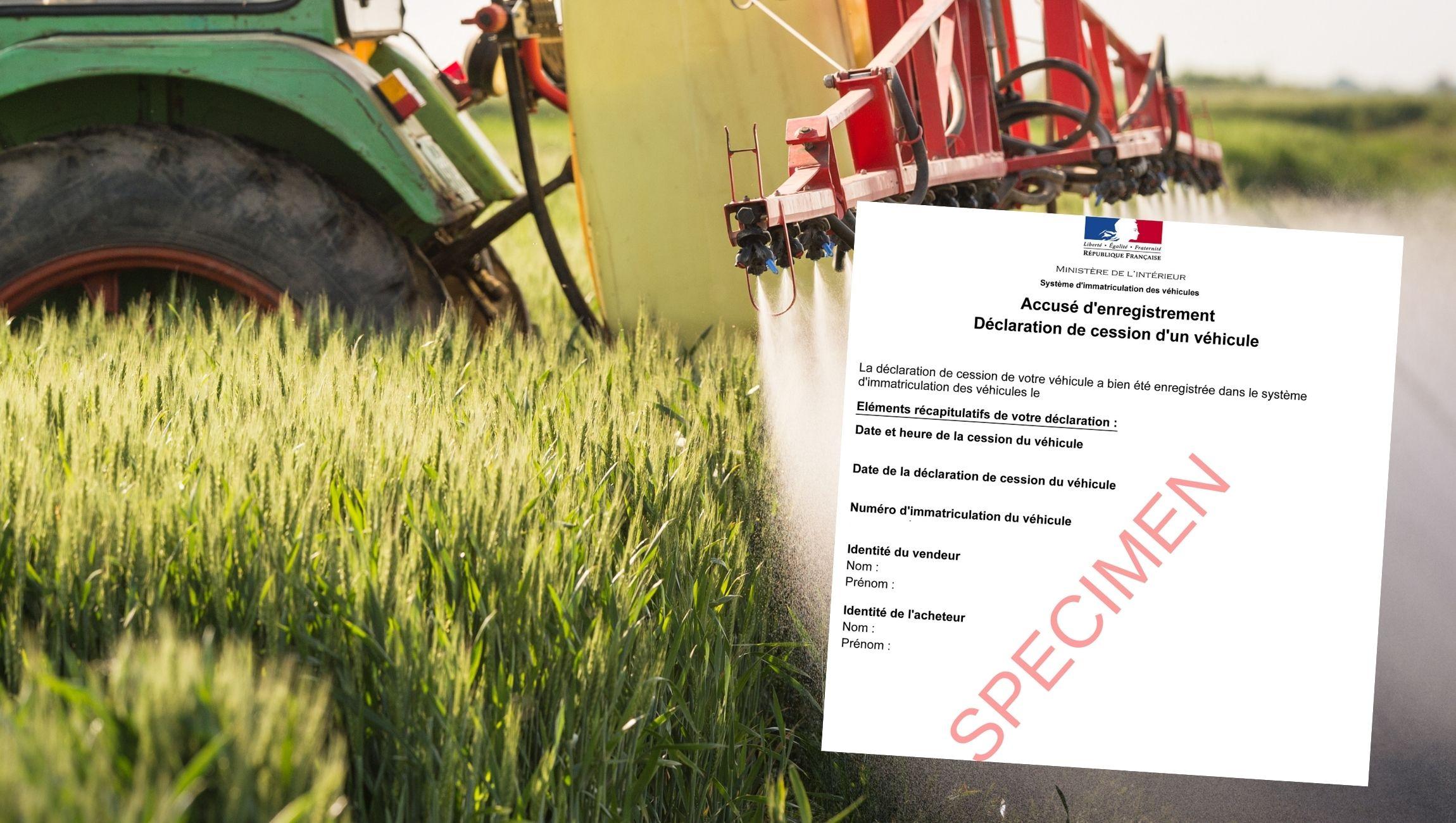 accusé d'enregistrement cession tracteur
