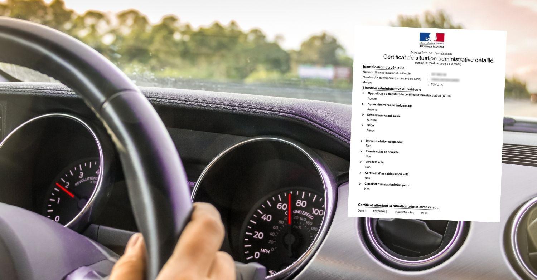 Obtenir un certificat de non gage