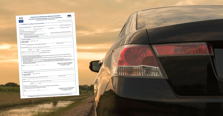 Certificat de cession à remplir