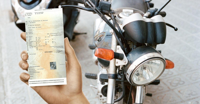 Changement d'adresse de carte grise pour moto