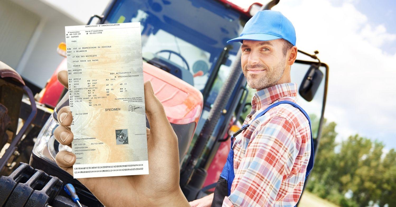 Changement titulaire carte grise tracteur