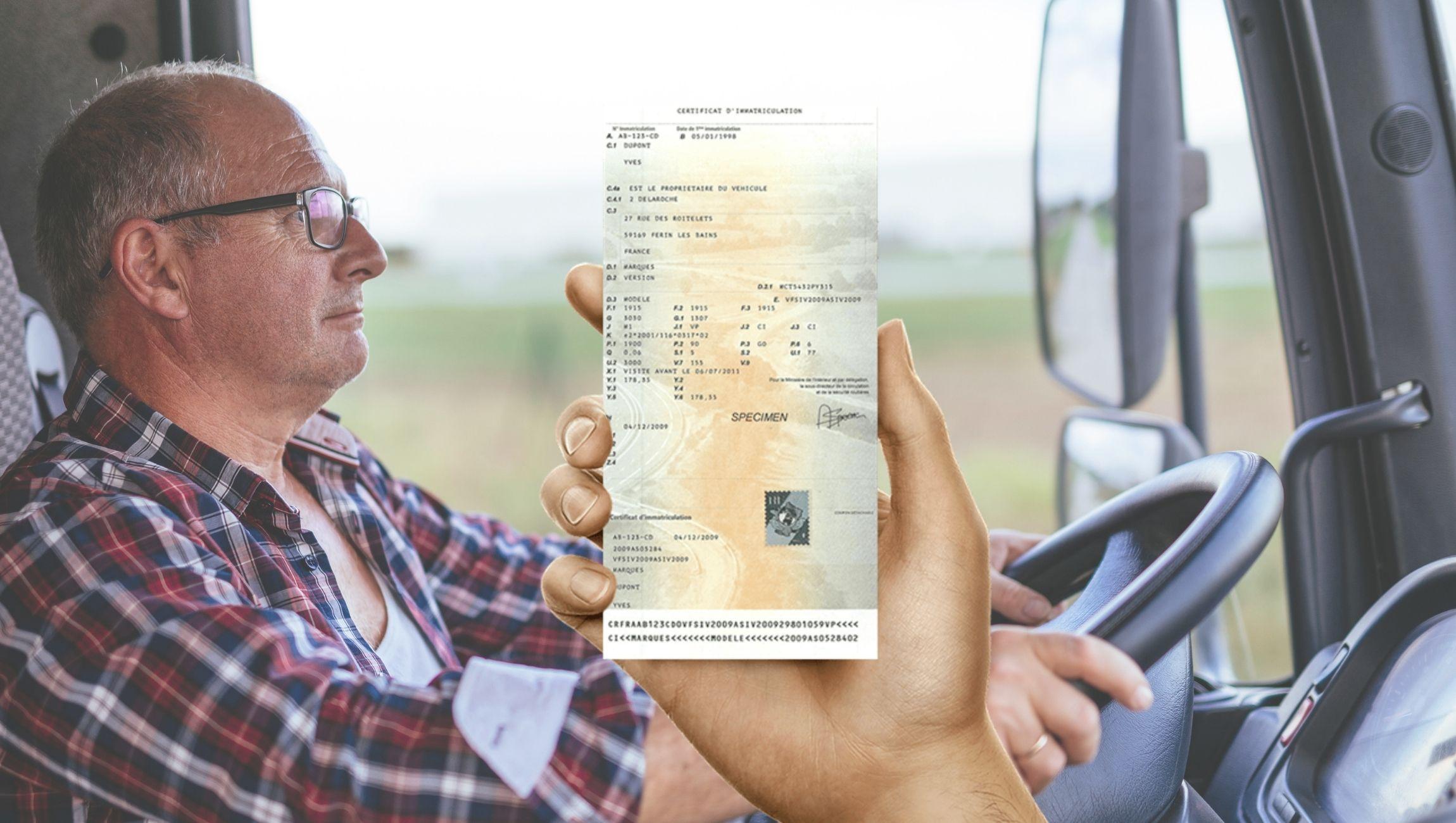 Changement carte grise camion