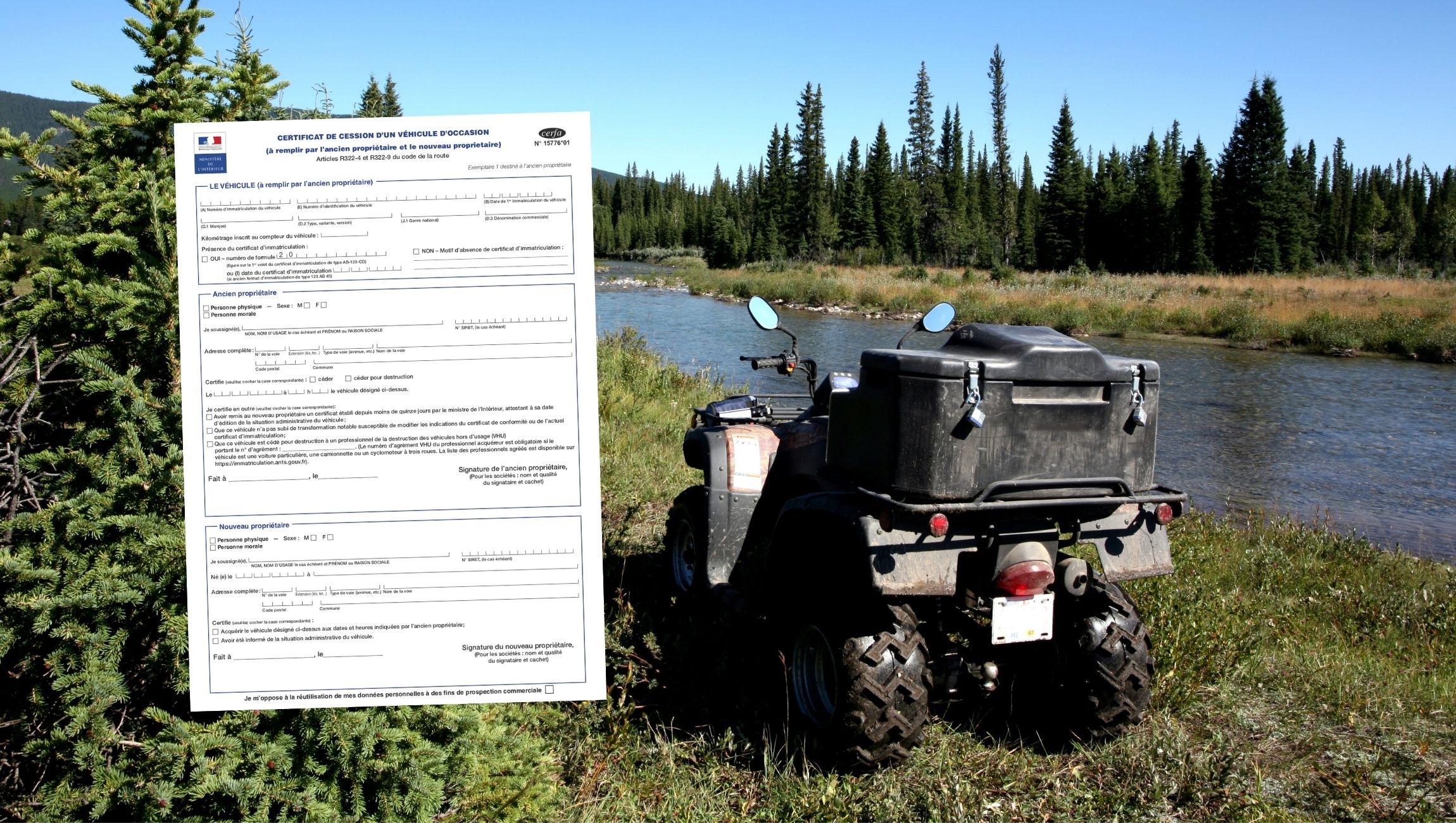 Certificat de cession quad / quad homologue