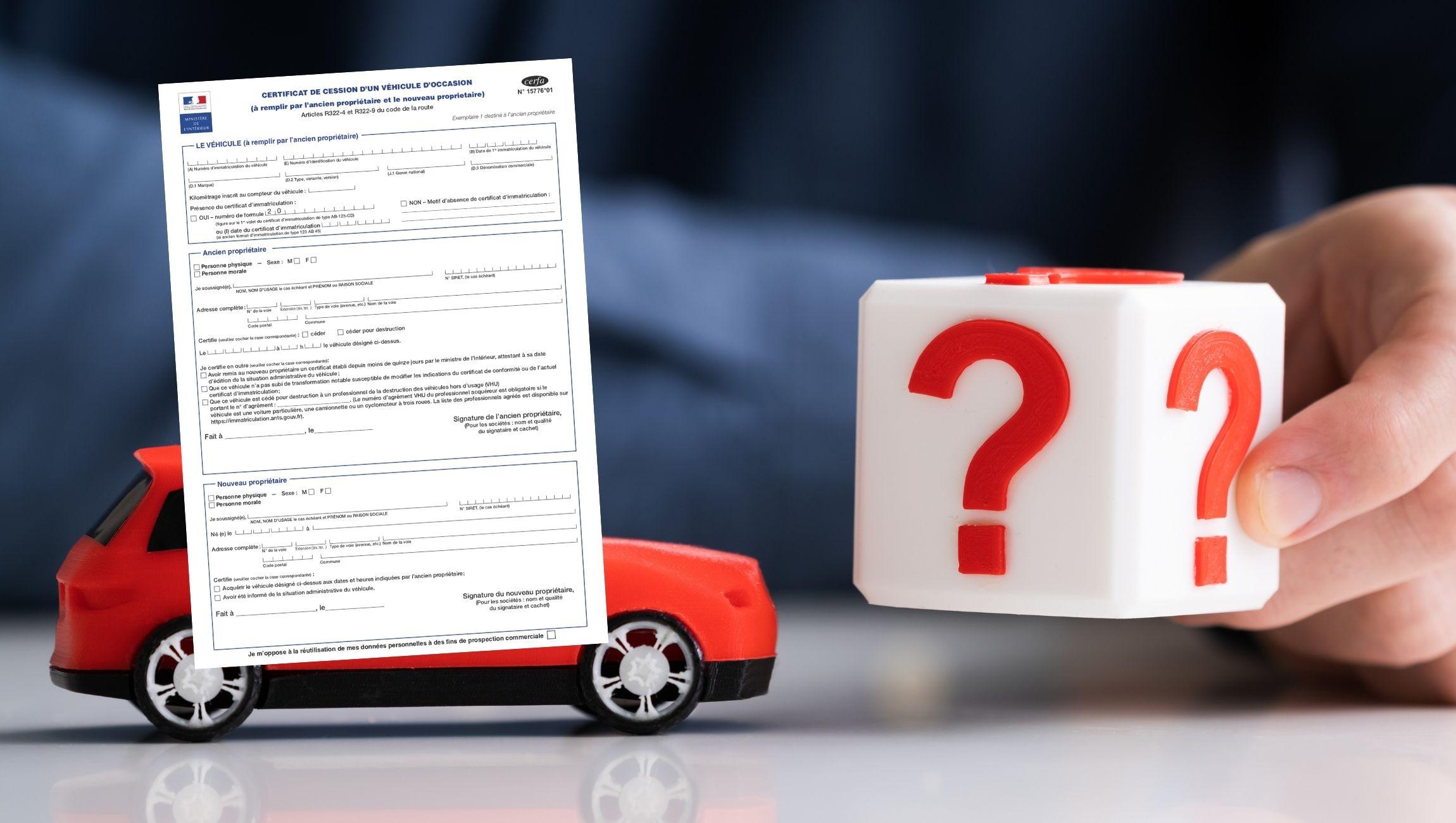 Certificat de cession obligatoire ou pas ?