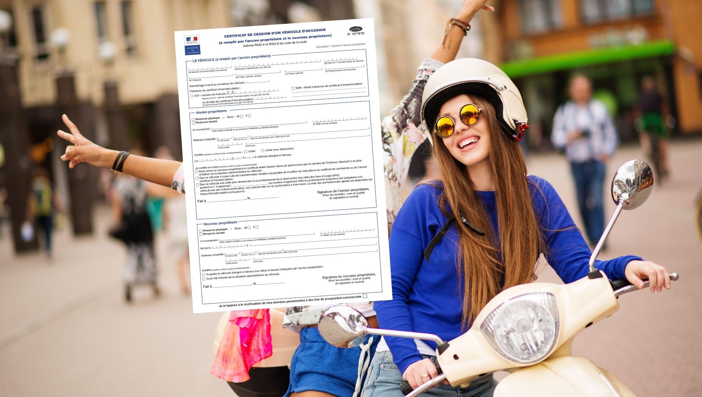 Certificat de cession scooter