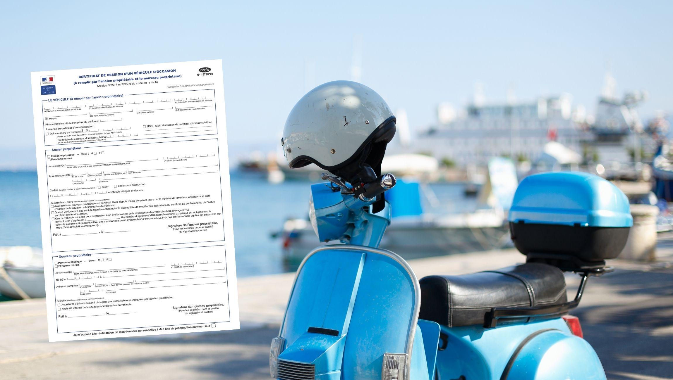 Certificat de cession scooter 125