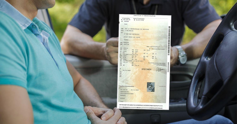 Carte grise sans permis de conduire
