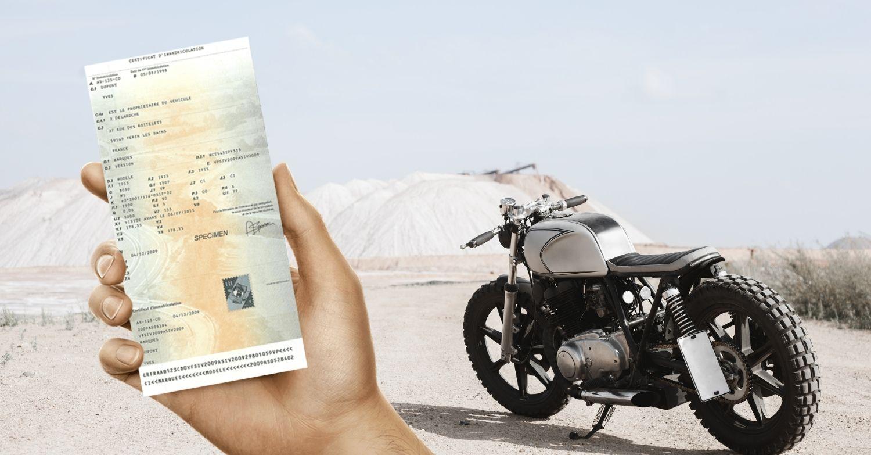 Vendre sa moto sans carte grise