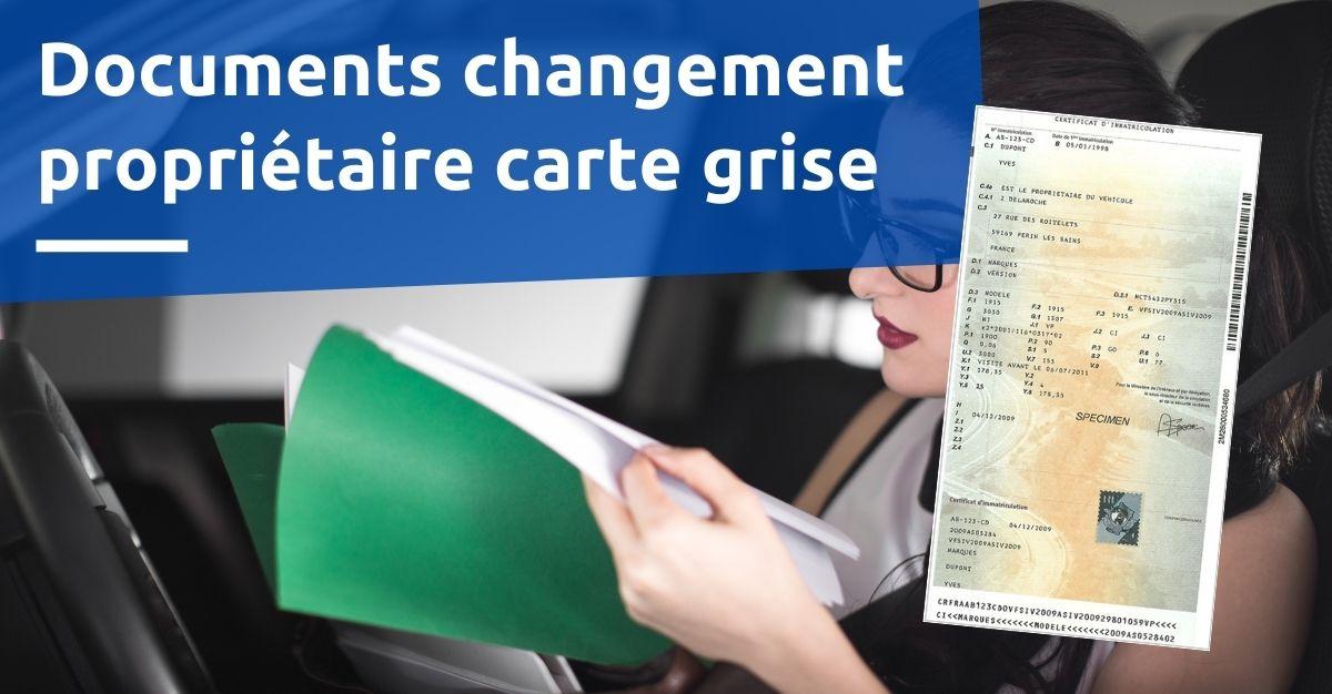 document changement de propriétaire carte grise