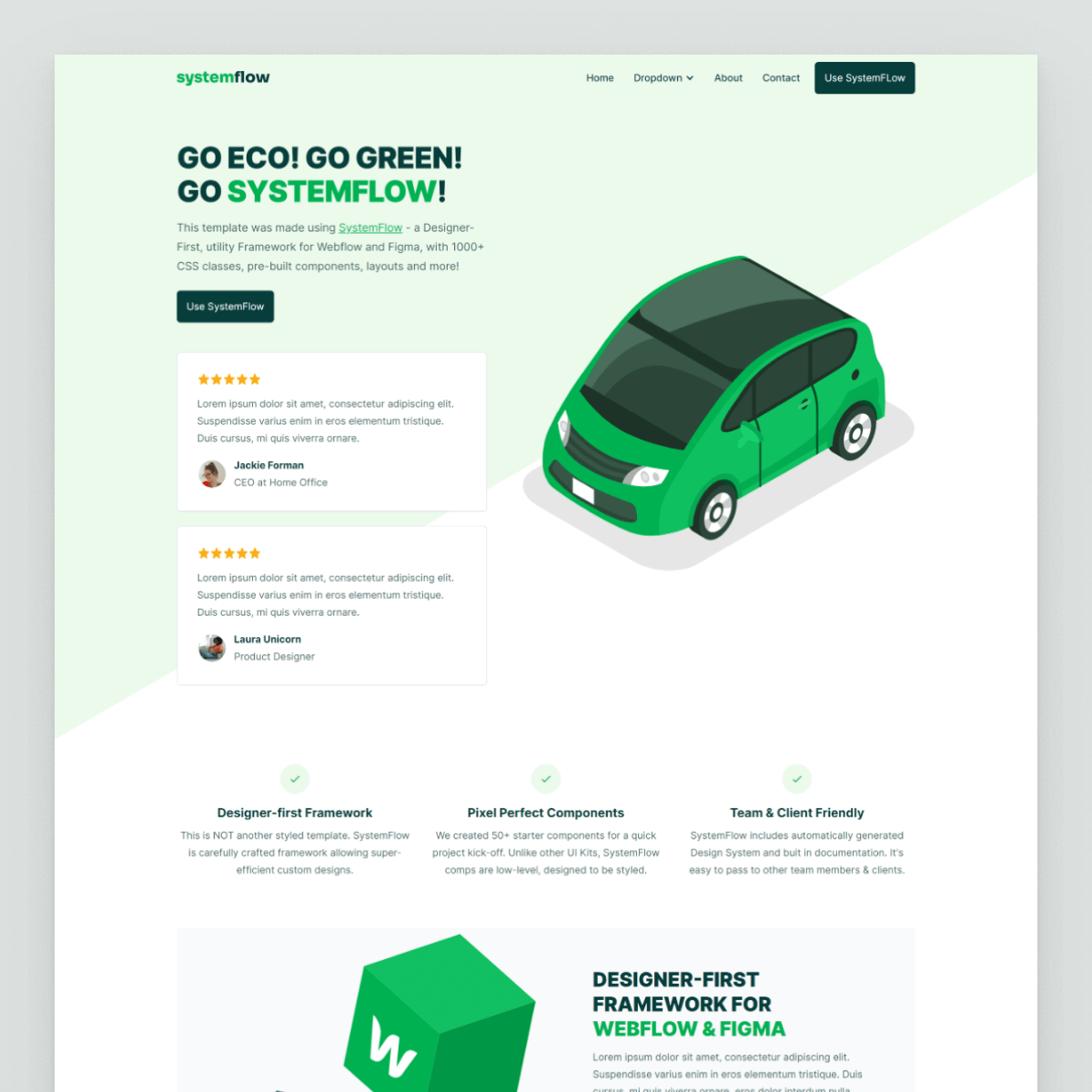 Systemflow green template