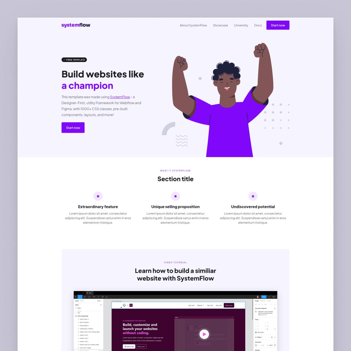 Systemflow purple template