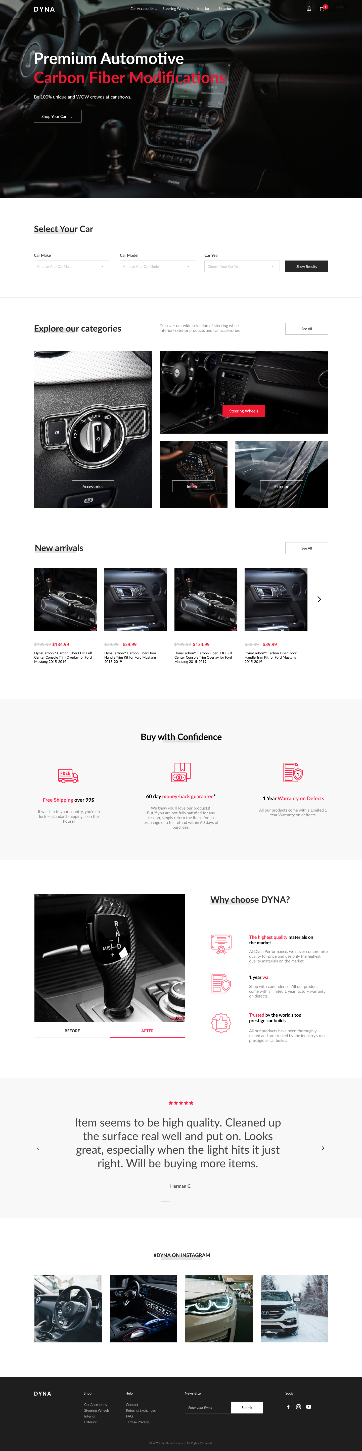 Dyna Ecommerce Design website