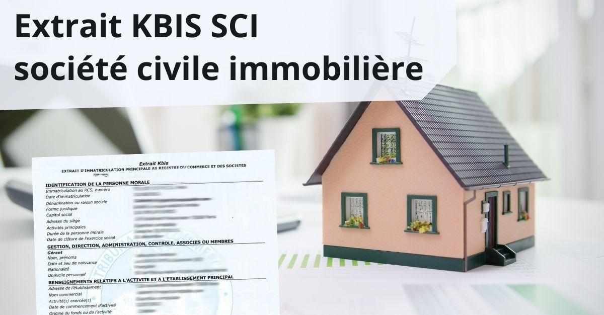 extrait KBIS SCI