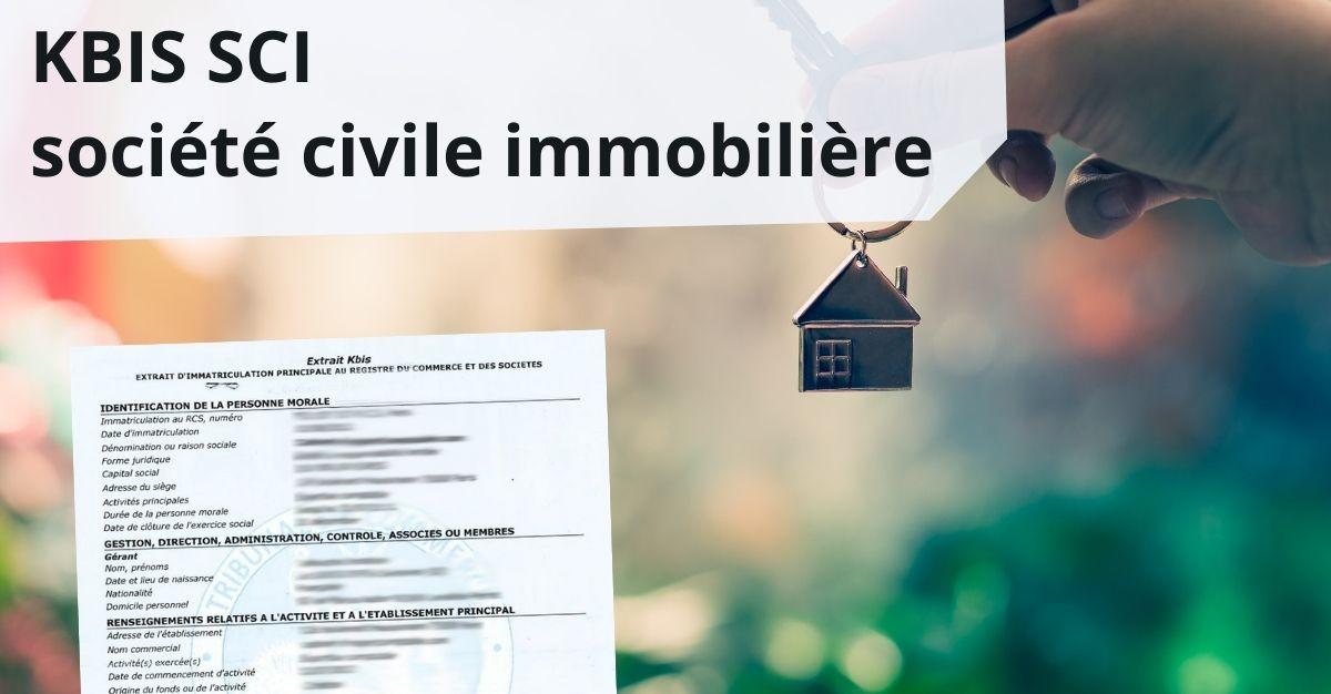 KBIS SCI société civile immobilière