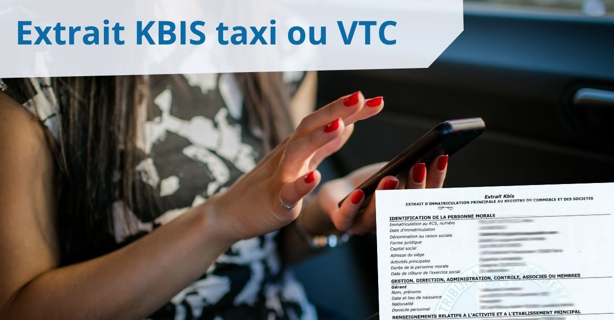 Extrait KBIS VTC