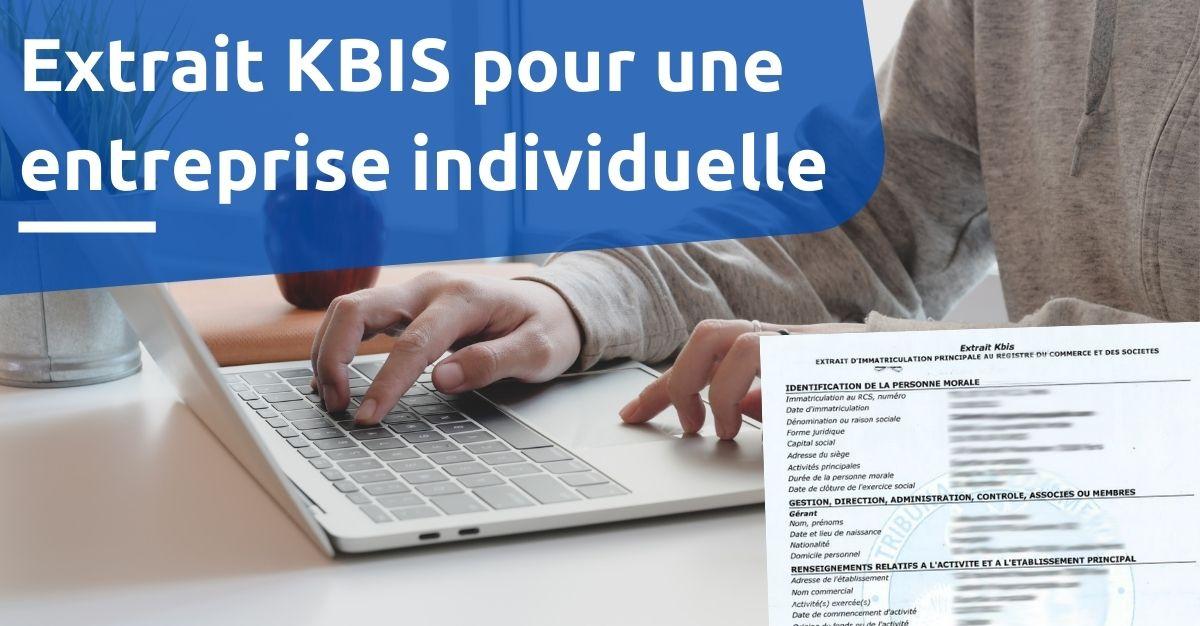 extrait KBIS entreprise individuelle EIRL