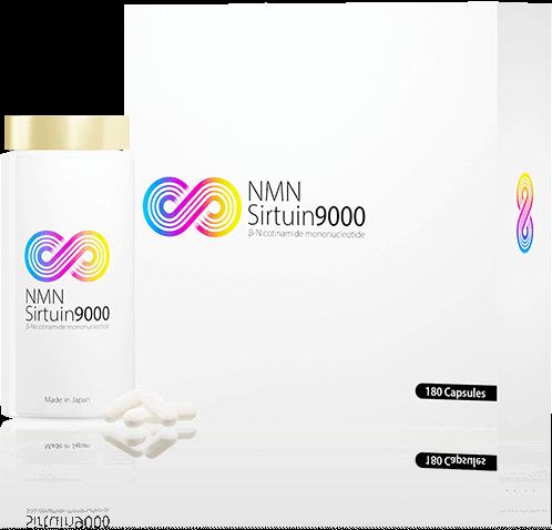 NMN Sirtuin9000 C:箱とボトル、サプリメントタイプ、9000mg配合