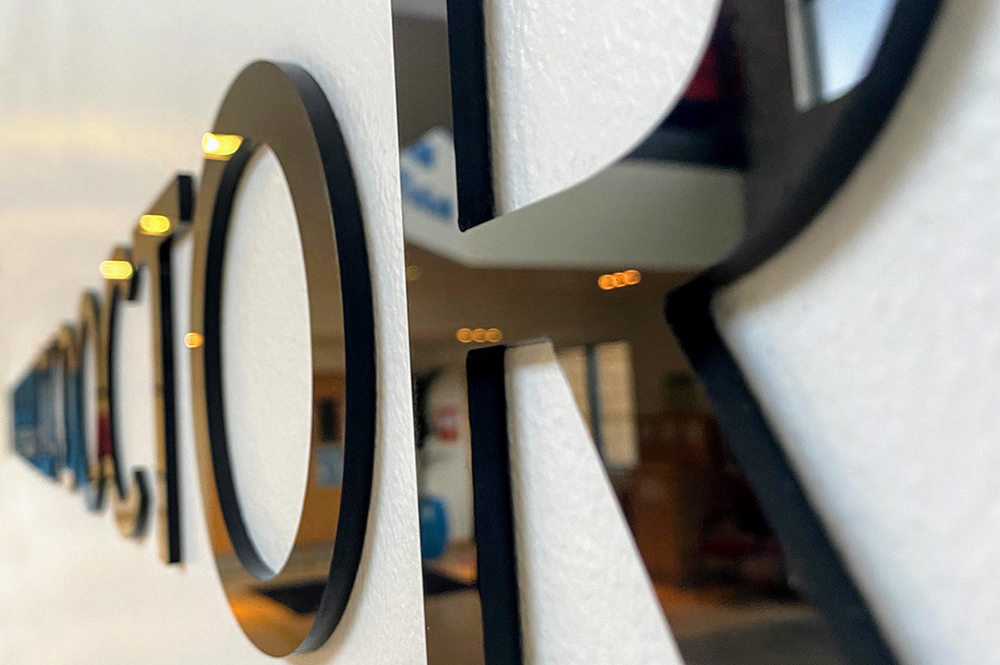 3D printed sign lettering