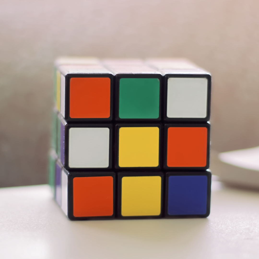 Rubix cube representing active mind and curiosity by Life Connections Ireland